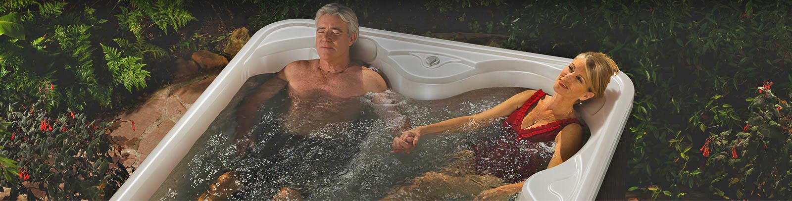 Relax in your hot pool tonight. We usually have a selection of spas ready to plug in today!